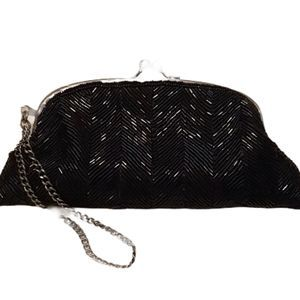 Embellished clasp beaded clutch wristlet limited